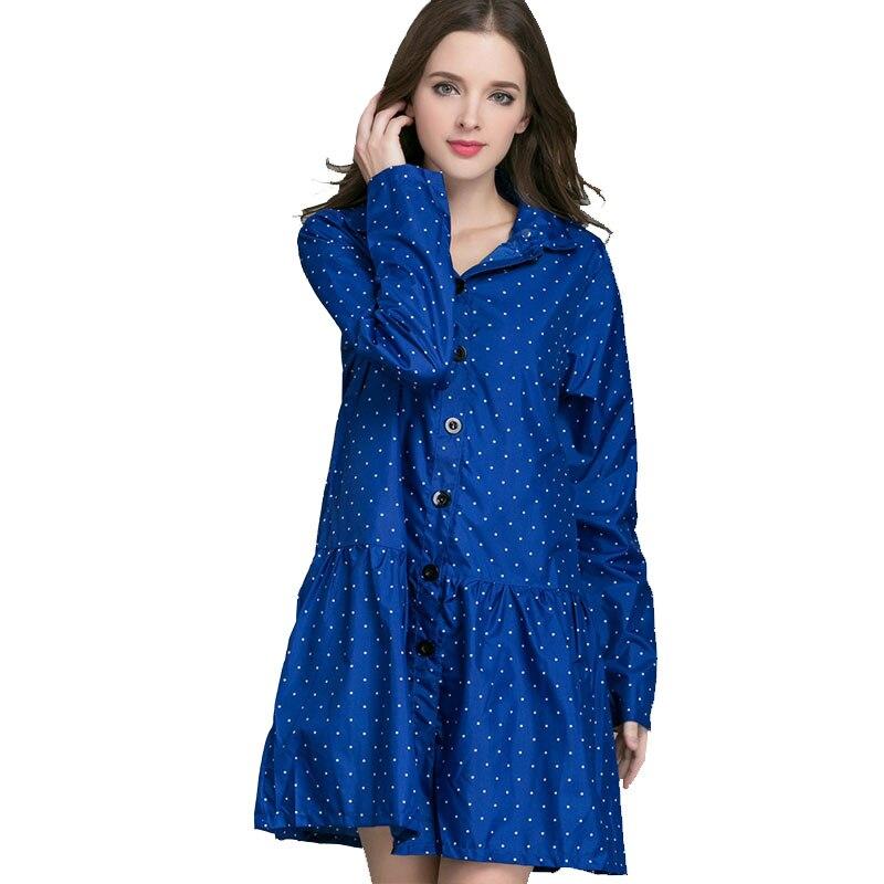 Long Raincoat Women Ladies Rain Coat Women's Rainwear Breathable Windbreaker Poncho Women Womens Capes and Ponchos 3DYY047