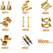 Himoto e18xbl e18 1/18 atualizar peças de metal alumínio para 1/18 elétrico fora da estrada buggy caminhão controle remoto brinquedos carro spino