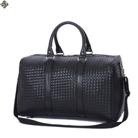 Fashion PU Leather Men Travel Bag Versatile Women Travel Bag Waterproof Black Cool Zipped Shoulder Bags Handbag luggage