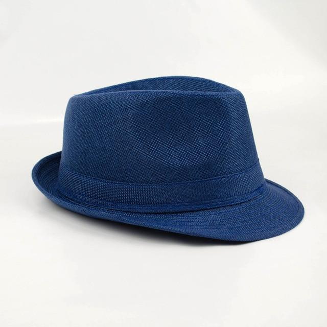 Fashion Design straw hat cheap 7 Colors Solid Straw Beach Summer Hat Casual  Panama Sun Hats 94ae7f12ad1