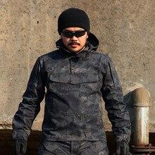 Новый тактический Камуфляж Охота Пальто Открытый Военный Мужчины Толстовка С Капюшоном Куртки Ветрозащитный multi-карман Army Sports Городской SWAT Outwears
