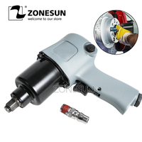 ZONESUN 16mm Bolt size Pneumatic Ratchet Impact T Wrench Air Tools Spanners for Car Wheel Bicycle Repair Pneumatic Tools