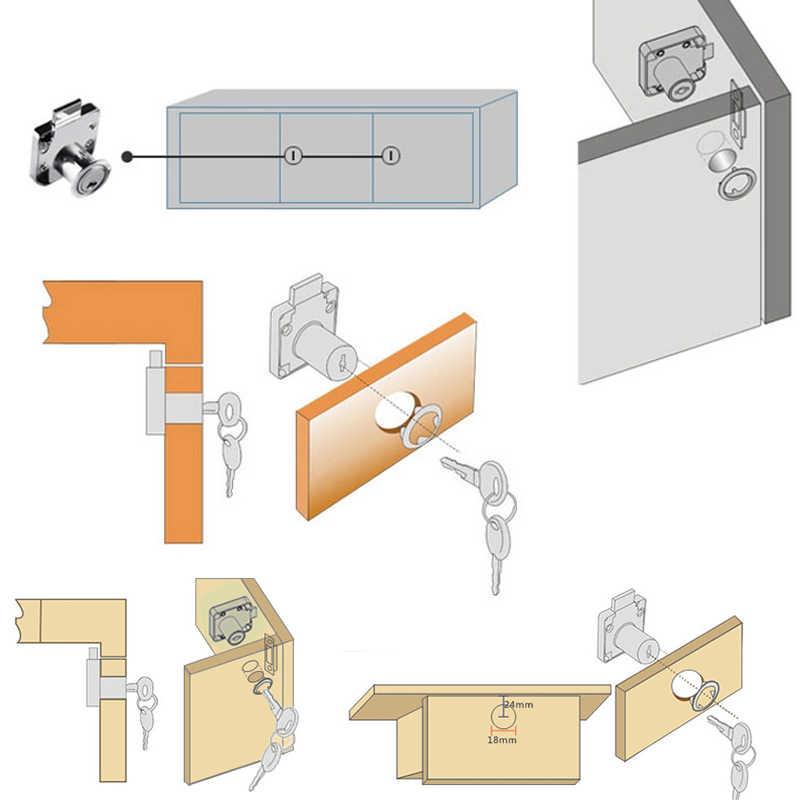 Замок ящика с 2 ключами цинкового сплава мебель дверь шкаф замки для офисного