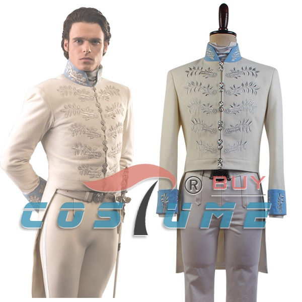 Cinderella 2015 Film Prince Charming Kit Cosplay Kostym Movie Halloween Kostymer Custom Made