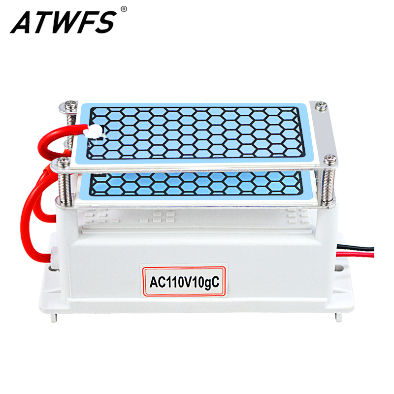 ATWFS New Arrival Ultra Heavy Duty Ozone Generator 110v 10g Ozonizer Air Purifier Long Life Ceramic Plate Ozone Sterilizer dc 220v 10g h ozone generator double ceramic plate water air purifier sterilizer for home car ozone generator air sterilizer