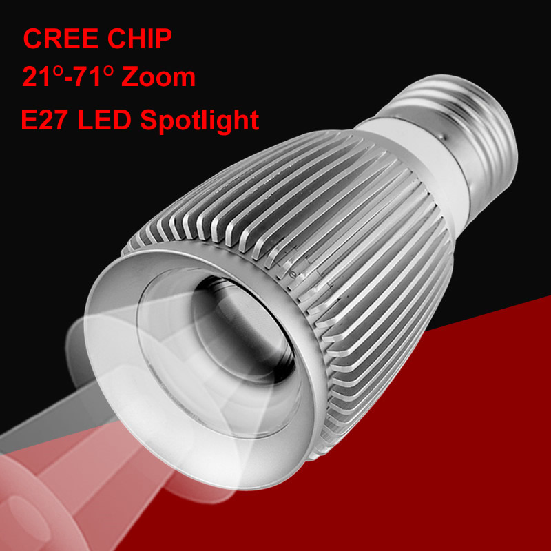 New Zoom 3W font b Led b font Spot Light Cob Cree Chip E27 Spot font