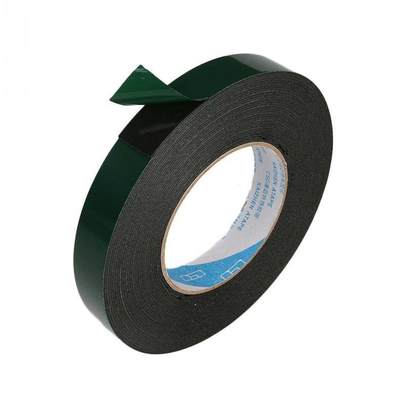 Double Sided Tape Soft PE Foam Automotive Permanent Car Body Trim Self Adhesive Tape Fire Retardant Shock Absorption #0305