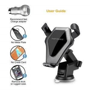 Image 3 - Chargeur sans fil de voiture 3 en 1 support de téléphone de voiture sans fil support de Charge sans fil pour iphone X 8 XS XR Samsung