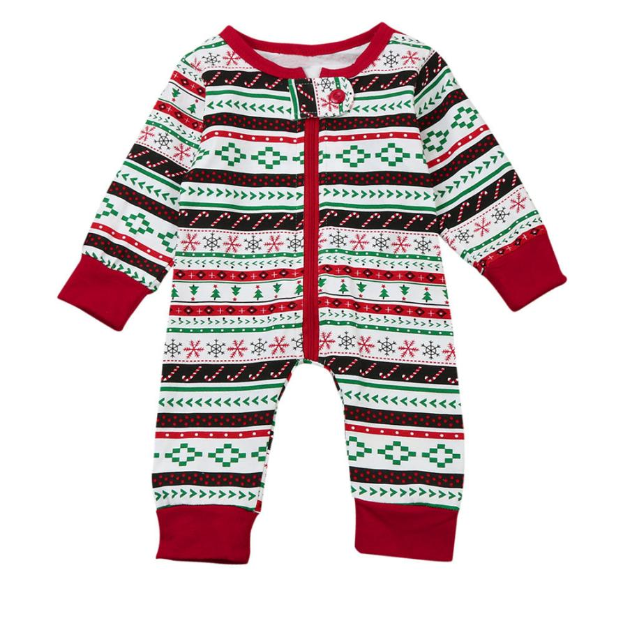 Newborn Infant Baby Boy Print Romper Jumpsuit Christmas Outfits ...