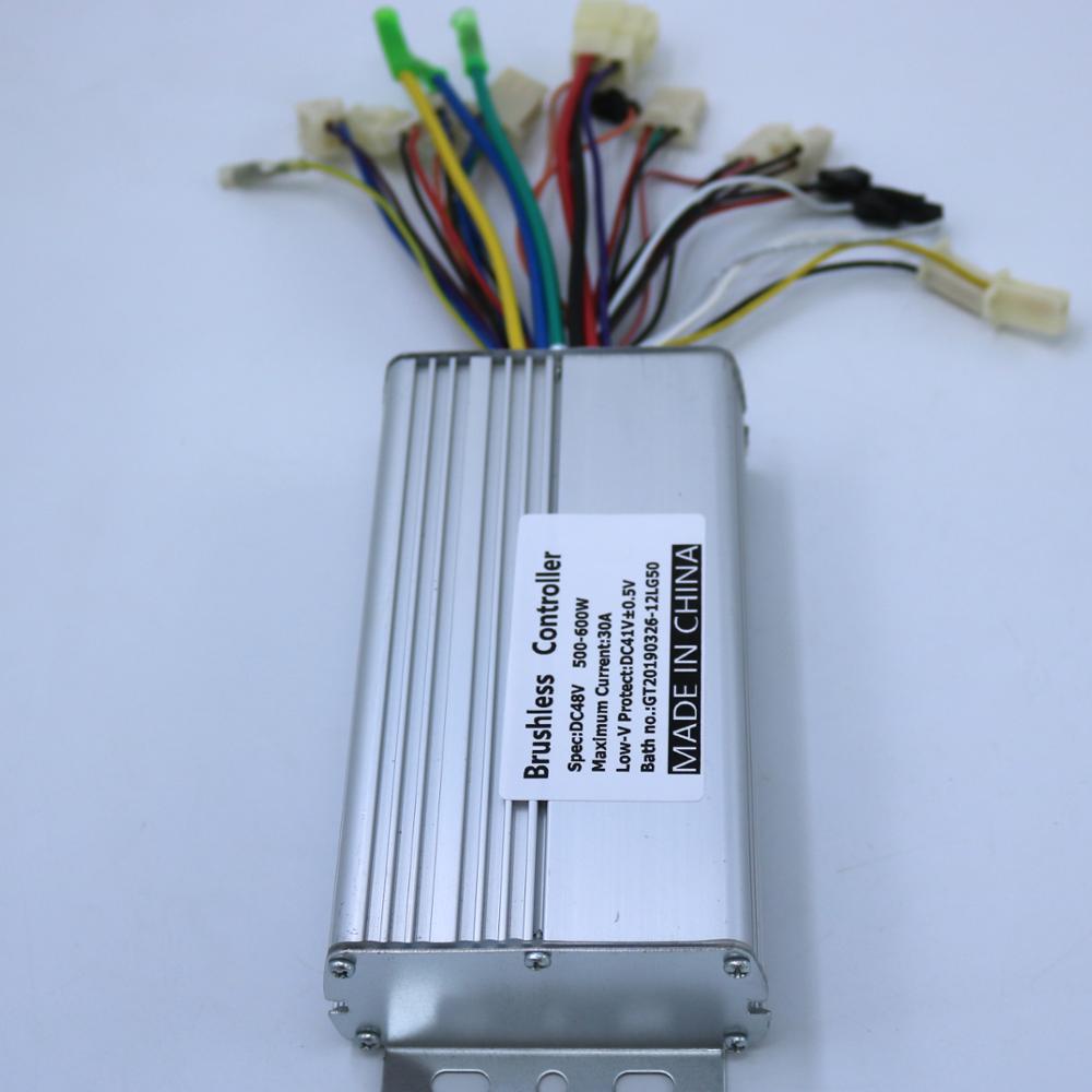 Sensor/Sensorless 60/120degree Universal Model 48V 500W/600W 30A Brushless DC Motor Controller/Electric Bike Speed Controller