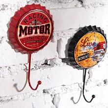 Новинка, 1 шт., креативный Ретро крючок для пивной бутылки, металлические знаки, настенный крючок для гаража, пива, кафе, бара, современное настенное искусство
