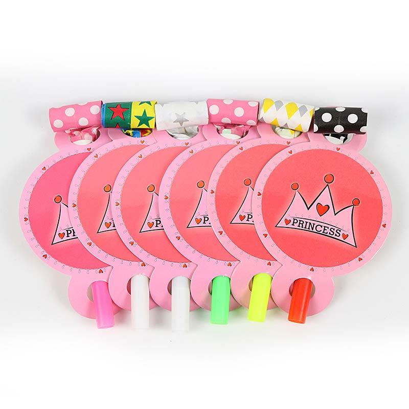 6 шт./компл. Розовый Корона выбросы день рождения корона украшения принцессы шумовиков выбросы Дети пользу день рождения поставки