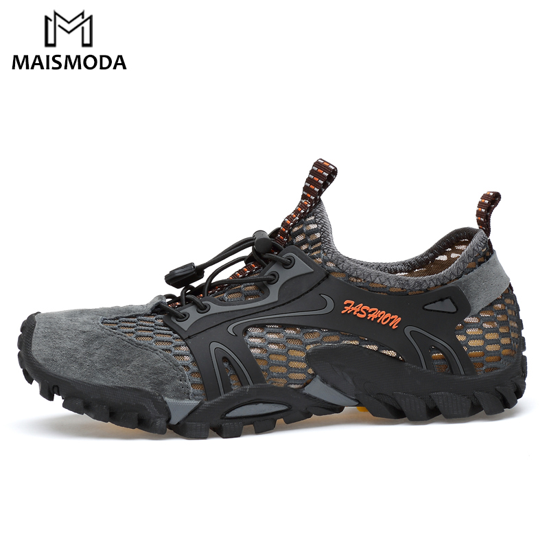 MAISMODA Men Outdoor Sneakers Breathable Hiking Shoes Men Women Outdoor Hiking Sandals Trekking Trail Water Shoes 38-45 YL299 scuba dive light