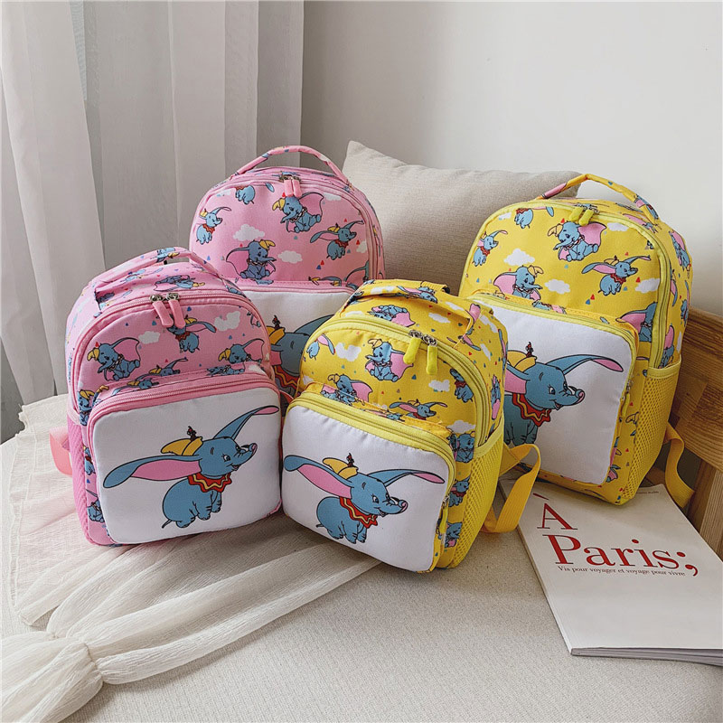 Cute Cartoon Dumbo Baby Safety Harness Backpack Kids Anti lost Bag Children Kindergarten Schoolbags Mochila Escolar Sac Enfant in Backpacks from Luggage Bags
