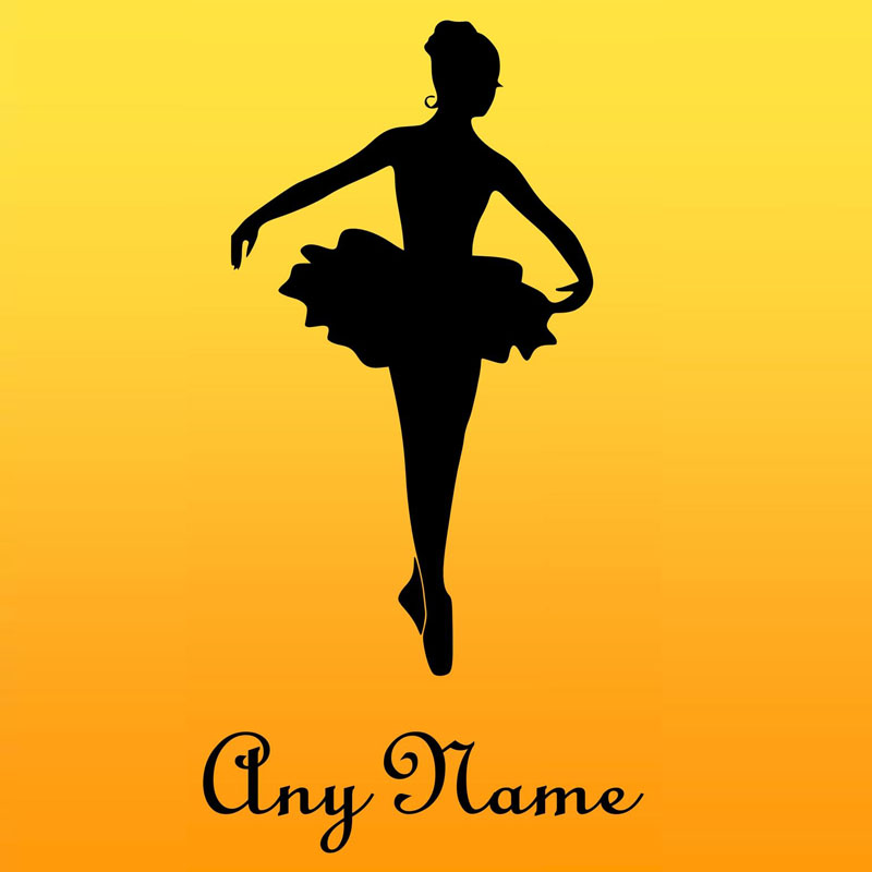 Customized Name Ballerina Wall Stickers Girls Room Dance Room Wall ...
