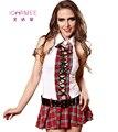 IDARMEE Grau TOP Fantasia Seductive Sexy Costume Outfit Vestido Da Menina Inglaterra Meninas Da Escola Set Traje Presente Do Valentim S9082
