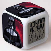 Rogue One: A Star Wars Story cartoon game action figure kids toys 7 colors changes LED light Digital Alarm Clock free shipping