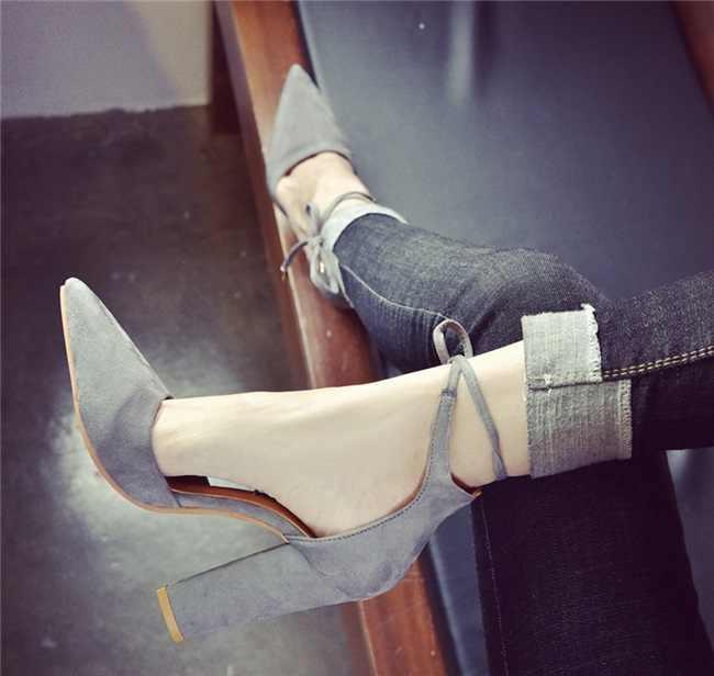 Phụ nữ Bơm Gợi Cảm Giày Cao Gót Giày nữ Phối Ren Điểm Ngón Chân Đảng Tặng BƠM BỂ Đen Người Phụ Nữ Giày 35-43 chaussures Femme