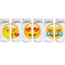 Emoji Printed Expression Socks Unisex Low Cut Ankle Sock (3 Pairs/Set)