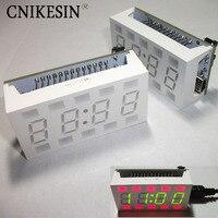 Simple Ideas White Desktop Electronic Clock Mini Clock Diy Kit 1pcs Diy Kit Creative 51 SCM