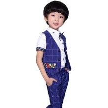 Pants Party-Dress Vest Prom-Suits Mariage Birthday Wedding School-Boys Kids Piano Gentleman