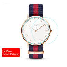 2PCS Tempered Glass For Daniel Wellington Watch 2.5D Premium Protective Film For DW Watch 40mm 38mm 36mm 34mm Screen Protector(China)