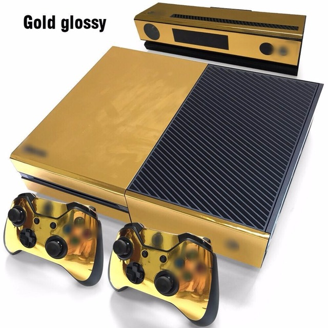 Gold Glossy sticker for xbox one Vinyl Sticker for xbox one console  wireless adapter and controller
