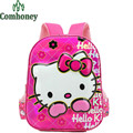 Girls Hello Kitty School Bags for Kindergarten Students 3D Cartoon Princess Style School Backpack Children Kids Backpack Bookbag