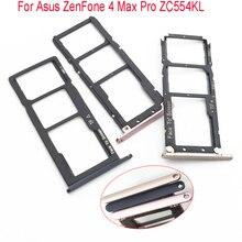 Nano SIM держатель для карт лоток для Asus ZenFone 4 Max 5,5 ZC554KL лоток со слотом для сим-карты держатель черный/золотой/розовый