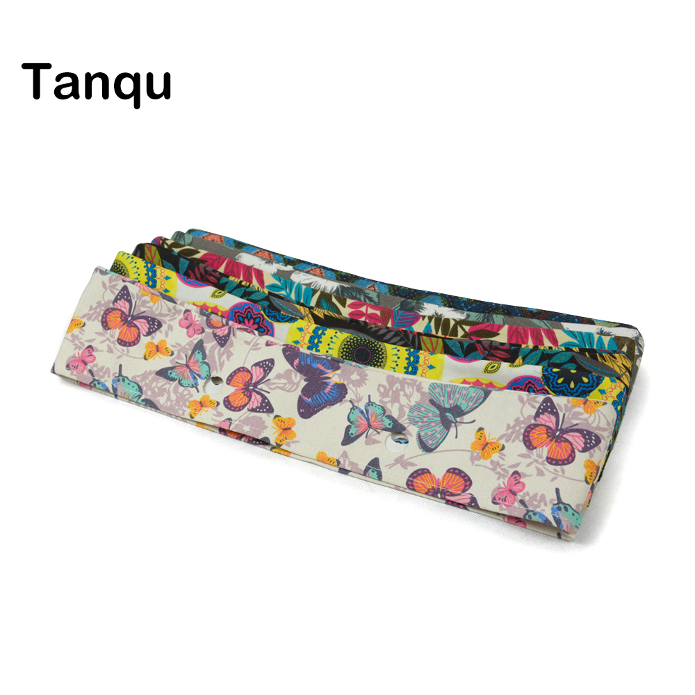 TANQU New summer Classic Mini Floral Fabric Trim cotton fabric Thin Decoration for Obag Handbag O Bag Body for summer autumn tanqu trim pu faux leahter decoration for obag handbag classic mini wood grain pattern trim for o bag body for summer autumn