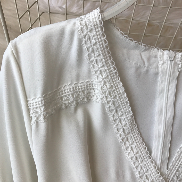 Women Bohemian Dress Lady Half Sleeve V Neck Red and White Beach Holiday Elegant Vestidos E152 37