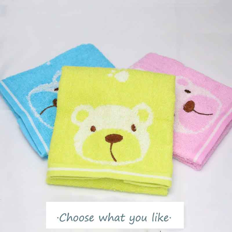 Cute Baby Face Towel 100% bamboo fiber Absorbent Drying Bath Beach Towel Washcloth Swimwear Baby Towel Cotton Kids Towel 26*48cm