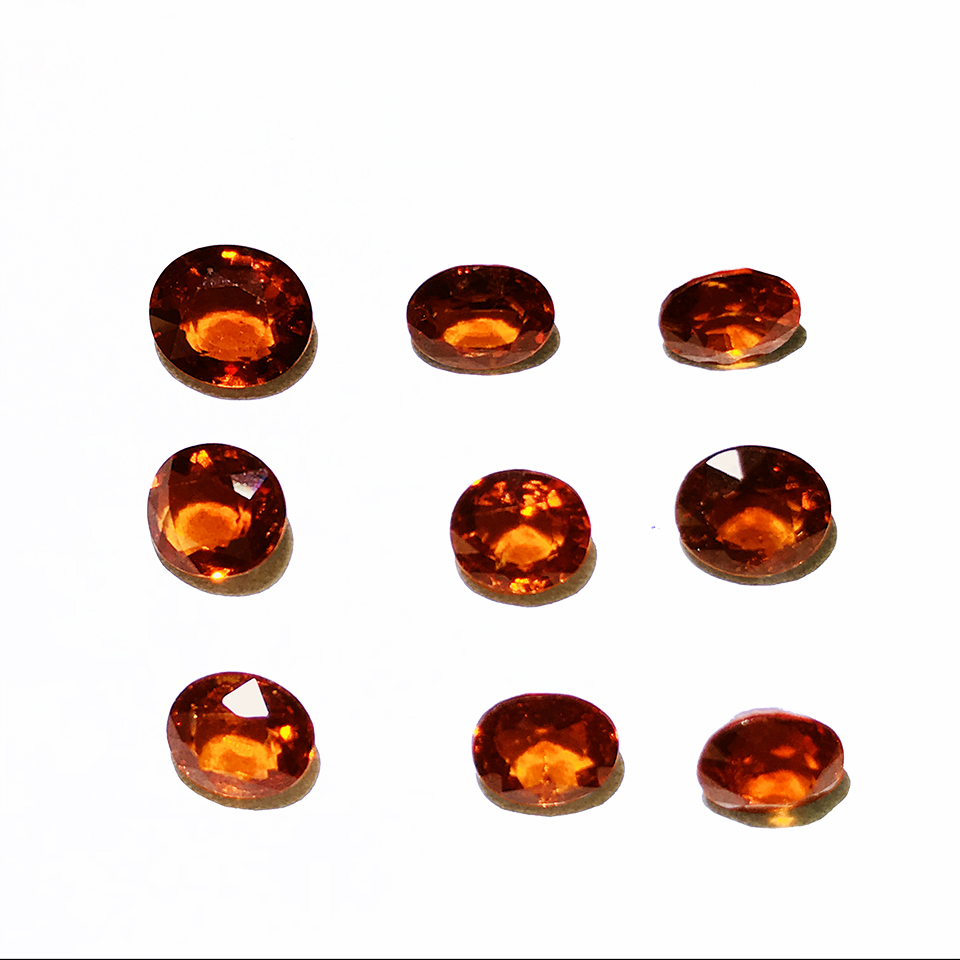 Natural unoptimized yellow Fanta garnet rough diamond ring face support customized with certificate in Beads from Jewelry Accessories