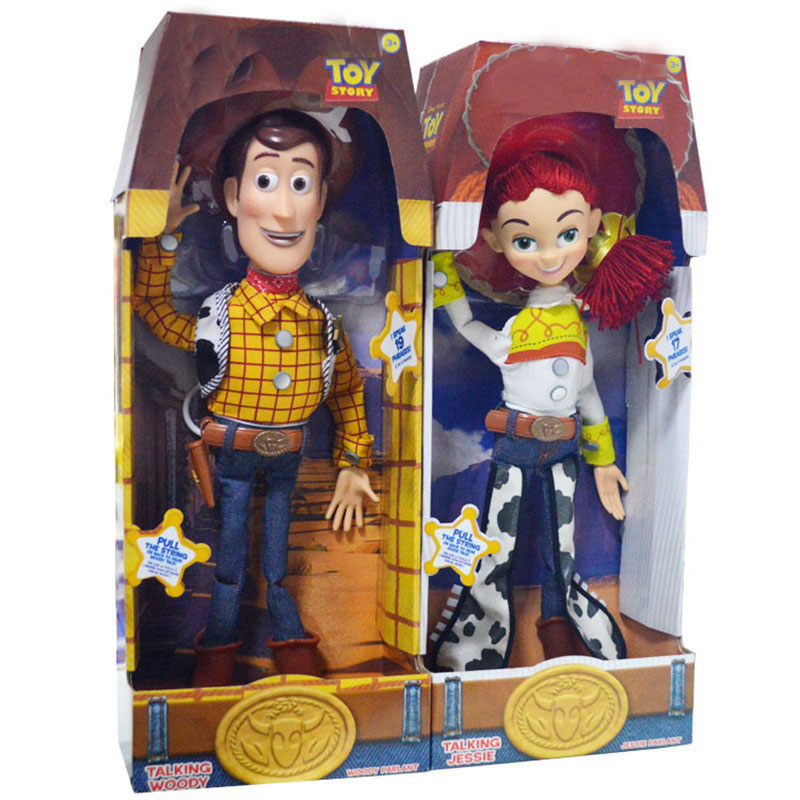 15 inch Pixar Toy Story 3 Talking Woody Jessie Pvc cartoon Action Figure Collectible Model Toy Doll for kids christmas gift 4pcs set anime toy story 3 buzz lightyear woody jessie pvc action figure collectible model toy kids gifts 14 5 18cm zy468