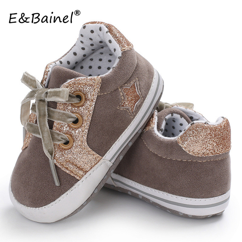 2018 New Baby Moccasins Infant Anti-slip Canvas First Walkers Soft Soled Newborn 0-18Month Girl Sneakers Branded Baby Boys Shoes