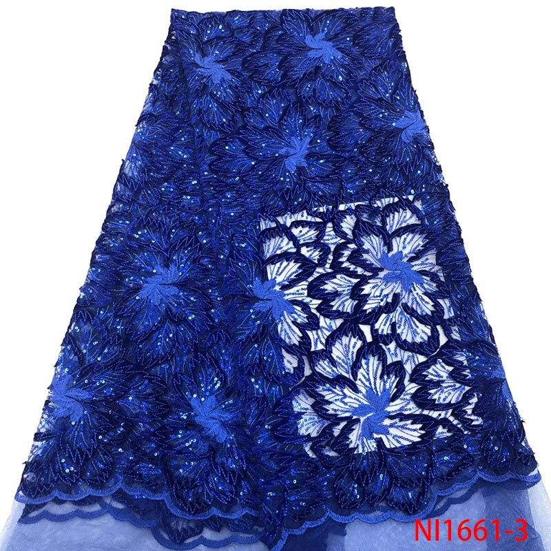 Moda 2019 última tela de encaje azul real tela de encaje de malla francesa encaje de tul africano con lentejuelas para vestido de fiesta GDNI1661 2-in encaje from Hogar y Mascotas    1