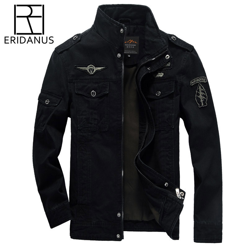 ERIDANUS 2017 High Quality Men Military Army Jackets New Arrivals American style Outerwear embroidery Fashion Man Jacket M472
