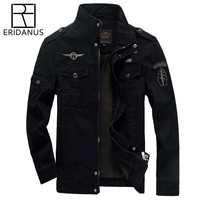 ERIDANUS 2017 High Quality Men Military Army Jackets New Arrivals American Style Outerwear Embroidery Fashion Man