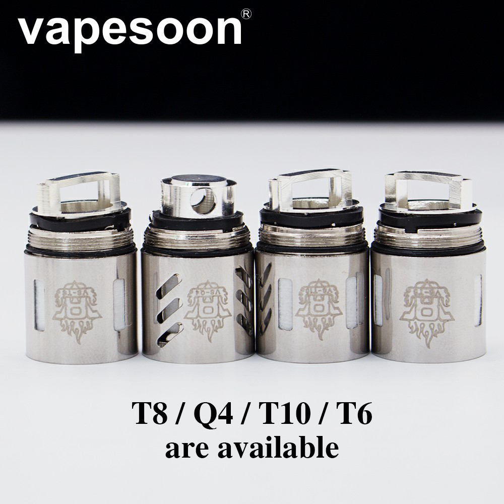 Authentic VapeSoon Coil Head TFV8 Coil Head V8-T10 V8-T6 V8-Q4 V8-T8  V8 RBA Replacement Coils For TFV8 Cloud Beast Tank