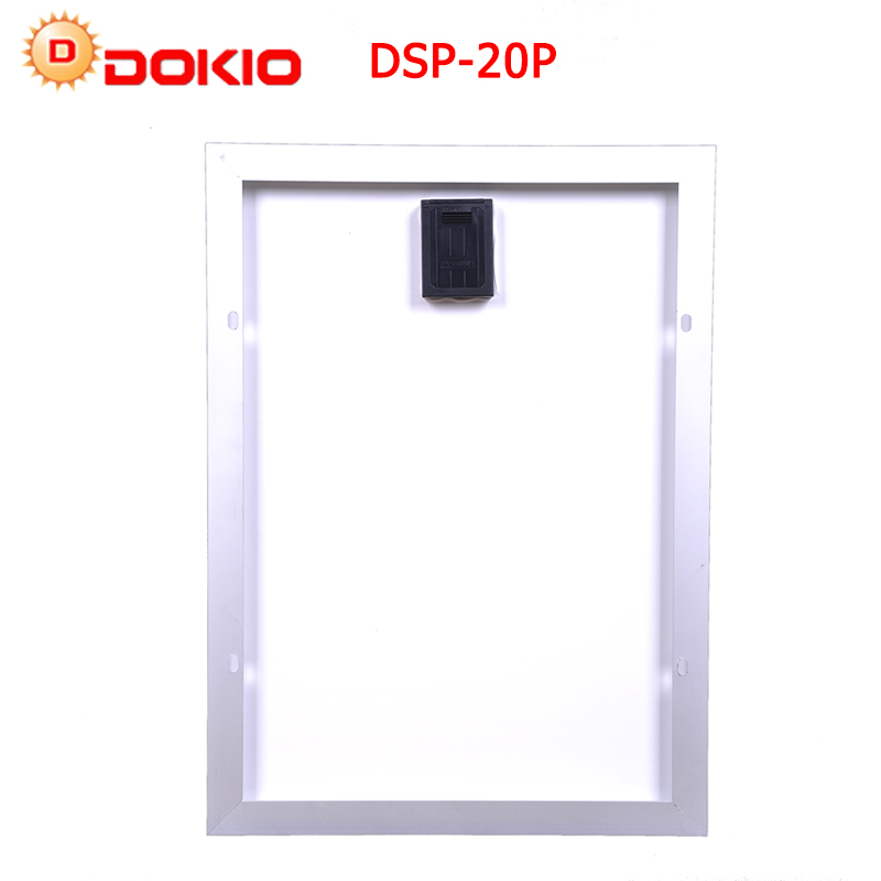 DOKIO Polysilicon Silicon 20W Solar Panel+ PWM12V 10A With Controller USB Interface LED Light For RV Car Boat Tourism