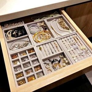 جديد درج DIY مجوهرات تخزين صينية حلقة سوار هدية مربع مجوهرات المنظم القرط حامل صغيرة حجم تناسب معظم غرفة الفضاء