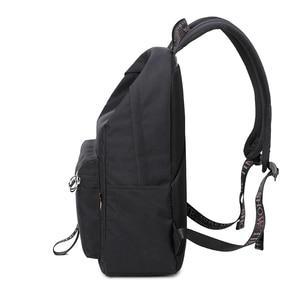 Image 3 - Waterproof Women Backpack Black and Pink Travel Bookbag Lady Back Bag KeyChain Knapsack College School Bag for Girls