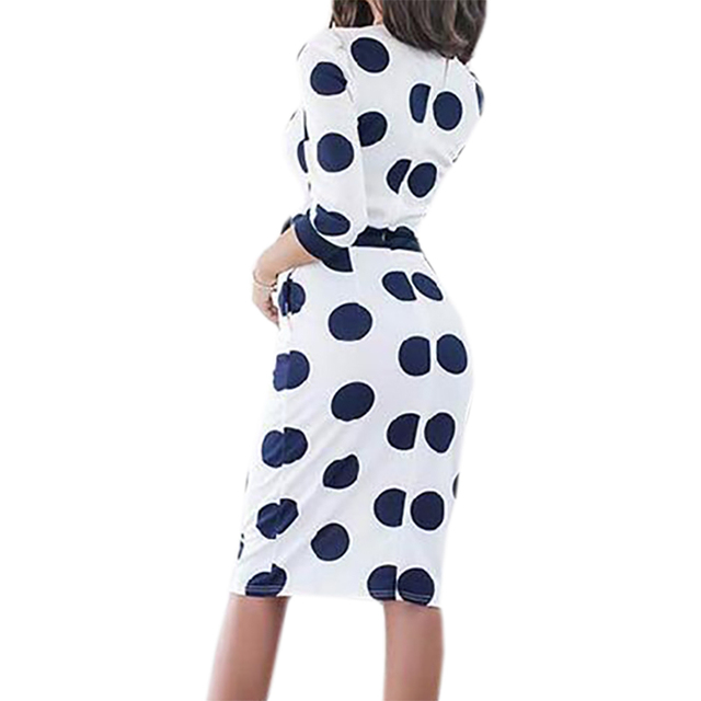 Women's Elegant Dress with Stylish Dotted Pattern