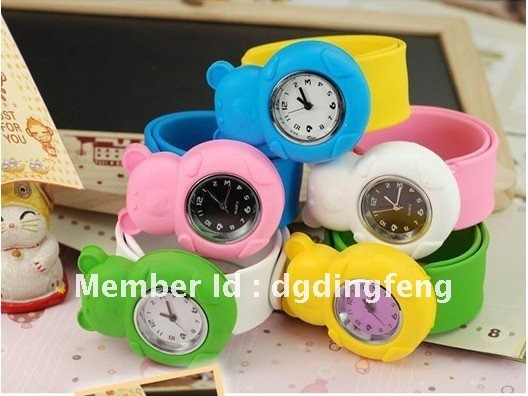 Lovely Animal Shape Silicone Kids slap watch 2012