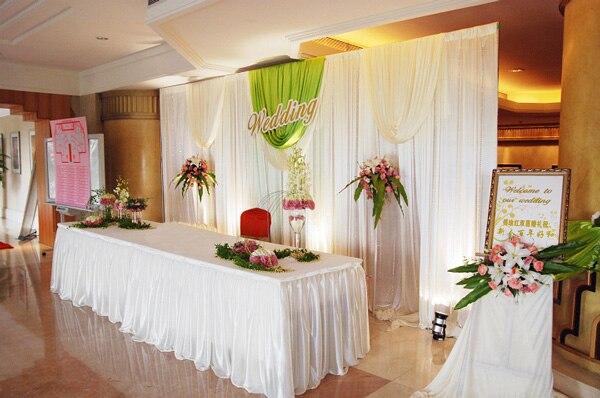 H100cm x L 10 mètres glace soie tissu pour longue table jupe tissu mariage table jupe/hôtel maison banquet fête table décor