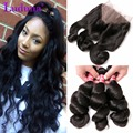 7A Brazilian Virgin Hair 360 Lace Frontal With Bundles Loose Wave With Closure Frontal 360 Lace Virgin Hair Brzilian Loose Wave