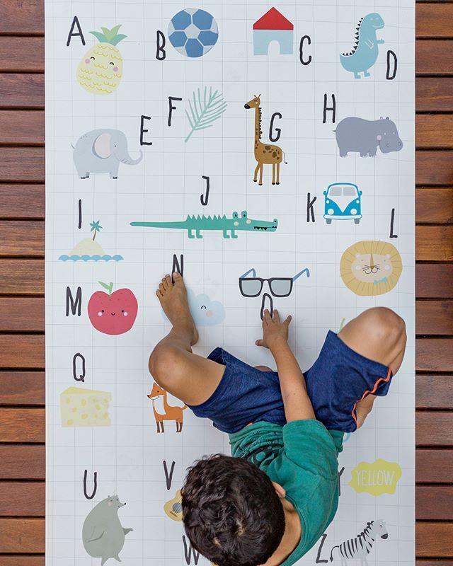 Cartoon lettre grand tapis chambre enfants filles garçons chambre décor aventure bébé ramper tapis pour salon 100x150 cm