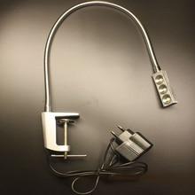 110V/220V 3W Led Sewing Machine Working Gooseneck Lamp With Outlet Plug