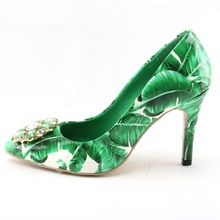 Buy leaf print heels and get free shipping on AliExpress.com a2540086f904