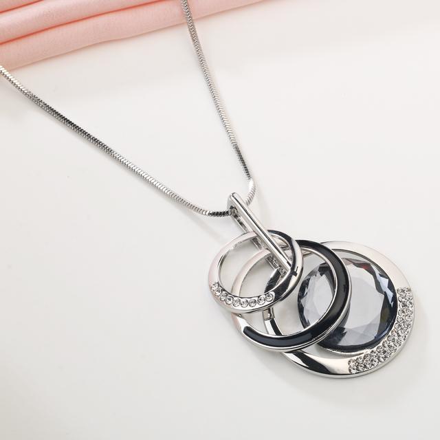 Meyfflin Collier Femme Necklaces & Pendants for Women Round Statement Long Pendants Maxi Colar Chain Fashion Jewelry 2017 Bijoux